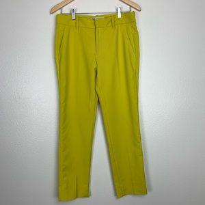 ZARA CIGARETTE GREEN PANTS